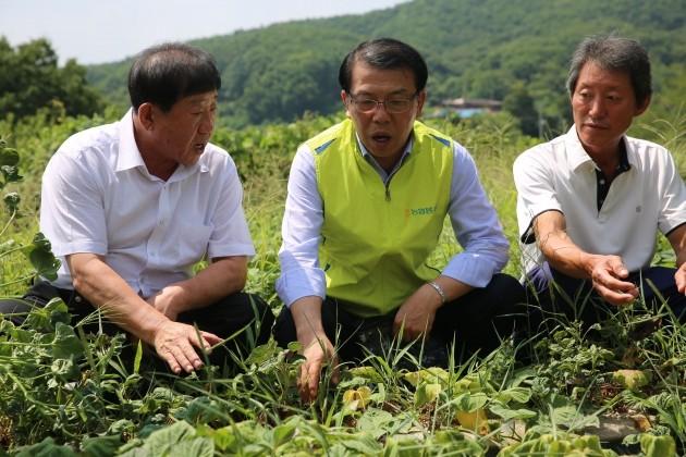 NH농협생명, 폭염피해 농가 방문해 지원책 논의