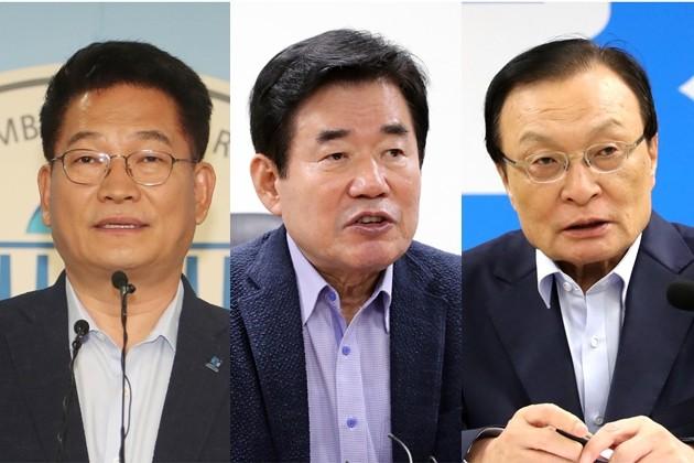 더불어민주당 송영길, 김진표, 이해찬 당 대표 후보 /사진=연합뉴스