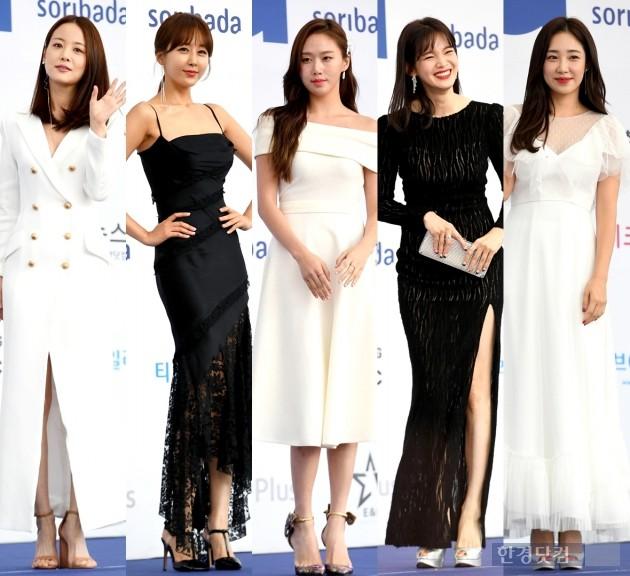 [HK영상] 손여은-한영-고성희-정가은-최희, '女스타들의 블랙&화이트 드레스 자태' (소리바다 어워즈)