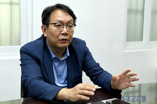 한경닷컴과 인터뷰하는 강기태 에듀해시 대표. / 사진=변성현 기자