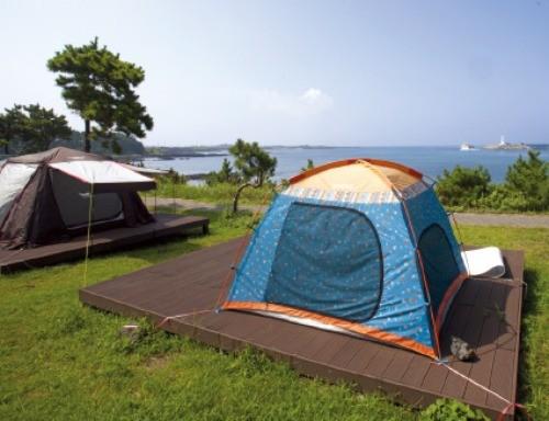 하모해수욕장의 프라이빗 캠핑