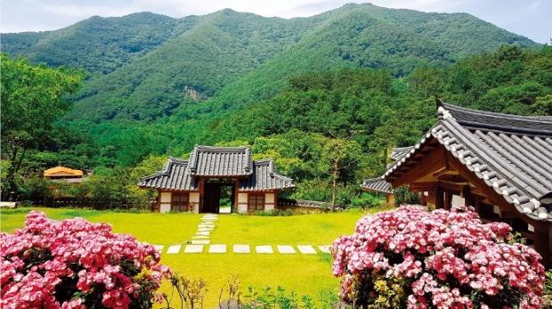 오성한옥마을의 소양고택 전경.