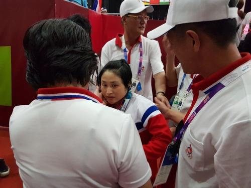 [아시안게임] 리성금, 여자 역도 48㎏급 우승… 北 첫 금메달
