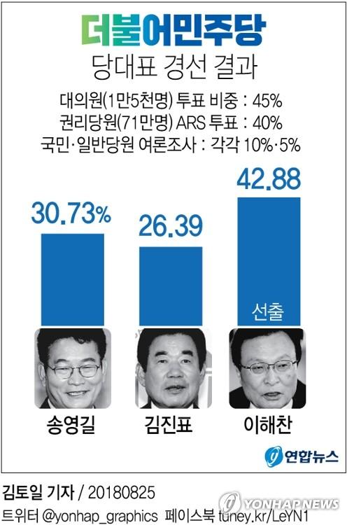 """민주 새 대표에 '친노 좌장' 이해찬… """"최고 수준 협치 추진"""""""
