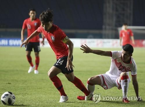 [아시안게임] 패배·퇴장·폭행…김학범호 '우즈베크 악연 끊기'