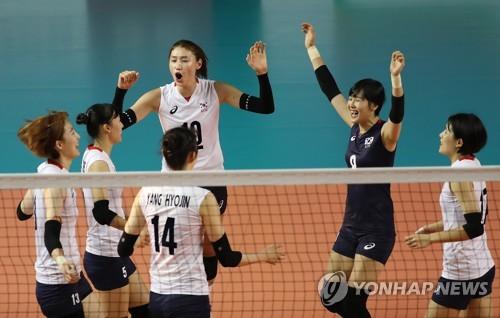 [아시안게임] '김연경 11점' 여자배구, 첫 경기서 인도 완파