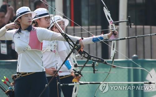 [아시안게임] 양궁 여자 단체전, 남북 대결 가볍게 승리하고 준결승