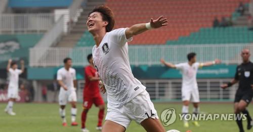 [아시안게임] 이승우 멀티골·황의조 9호골…한국, 베트남 꺾고 결승 진출