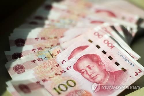 """中 위안화 가치 1년2개월만 최저 수준…""""달러화 강세 영향"""""""