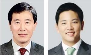 한창수 아시아나항공 사장(왼쪽), 박세창 아시아나IDT 사장.