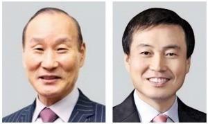 최병오 패션그룹형지 회장(왼쪽), 차석용 LG생활건강 부회장(오른쪽).