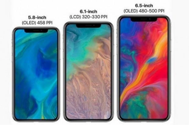 아이폰 신제품은 역대 최대 크기 디스플레이를 채용한 6.5인치 유기발광다이오드(OLED) 대화면 '아이폰XS 맥스', 지난해 '아이폰X'의 후속 모델인 5.8인치 '아이폰XS', 그리고 보급형인 6.1인치 액정표시장치(LCD) '아이폰9(아이폰XC)' 등이다.