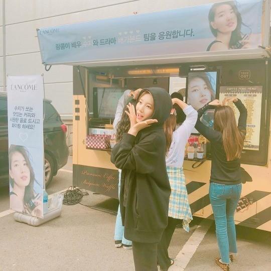 '배가본드' 촬영 중인 수지/사진=수지 인스타그램