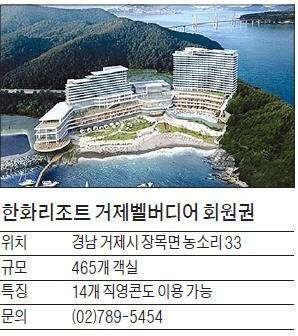 한화리조트, '거제 벨버디어' 리조트 회원권 분양