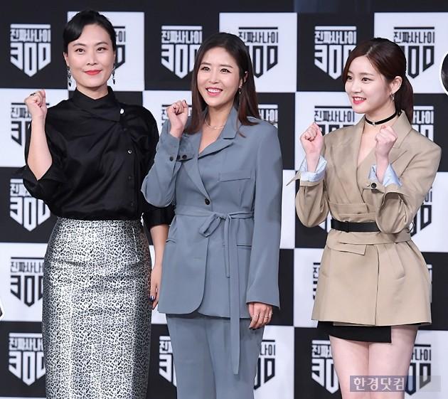 [포토] 김재화-신지-이유비, '멋진 군인으로 변신할게요~'