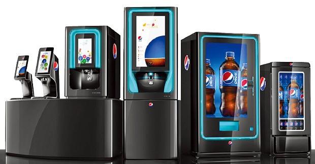 탄산음료 판매기에 터치스크린을 설치한 '펩시 스파이어(Pepsi Spire)'