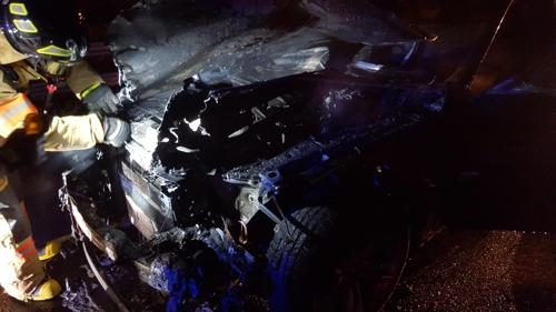 달리던 BMW 750li 차량서 불… 인명 피해 없어