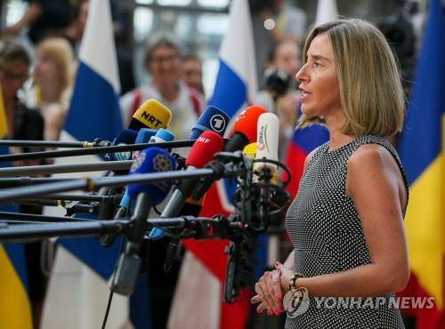 "EU ""北, 미사일 관련 시설 해체 서면 약속 중요한 조치"""