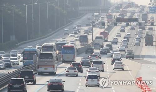 귀성길 정체 계속… 서울→부산 5시간 20분