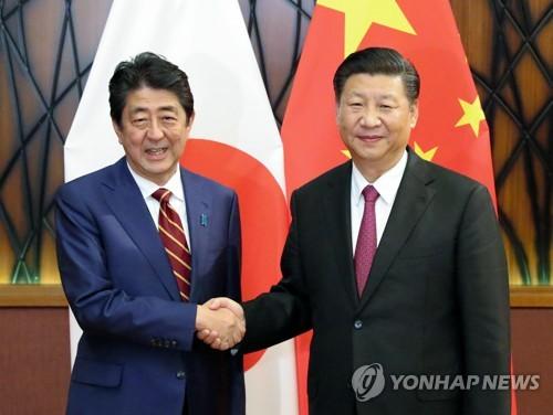 """러시아서 만난 시진핑-아베…""""한반도 비핵화 中日 공통의 목표"""""""