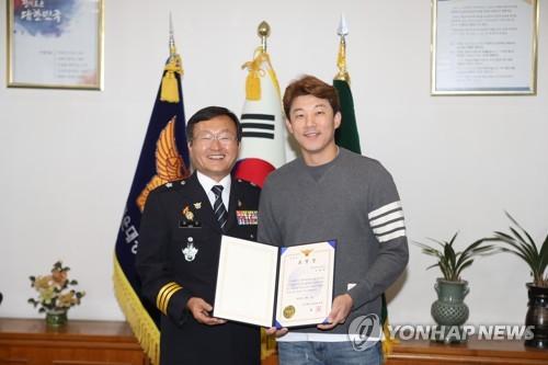 """뺑소니 검거 감사장 오현택 """"다음에도 도움 주겠다"""""""