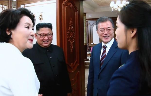 남북정상 백화원서 2차 정상회담 /사진=연합뉴스