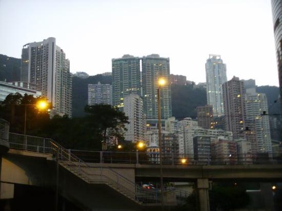 홍콩 센트럴 미드레벨 일대 아파트촌