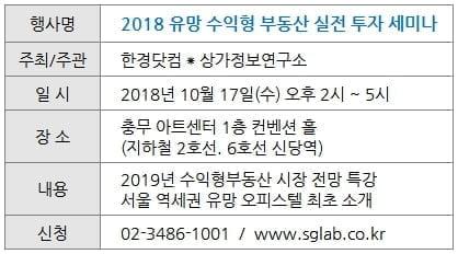 [한경 부동산] 상가·오피스텔 투자자 모여라…17일 세미나 개최