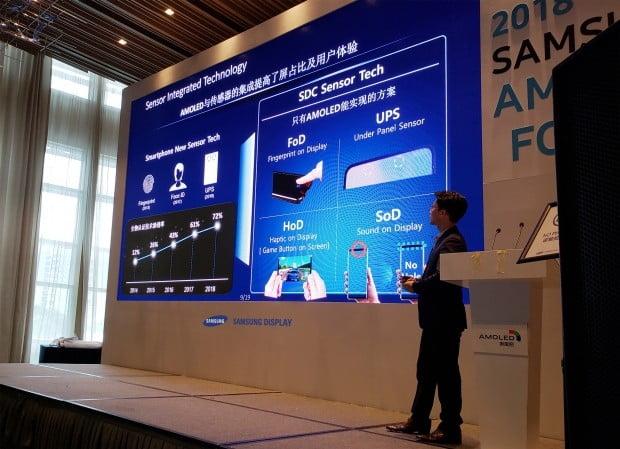 삼성디스플레이는 18일 중국 선전 메리어트 호텔에서 고객사 20여 곳을 초청해 '2018 삼성 OLED 포럼'을 개최했다.