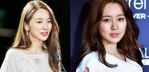 (왼쪽) 설렘주의보 윤은혜 (오른쪽) 2015년 4월 윤은혜