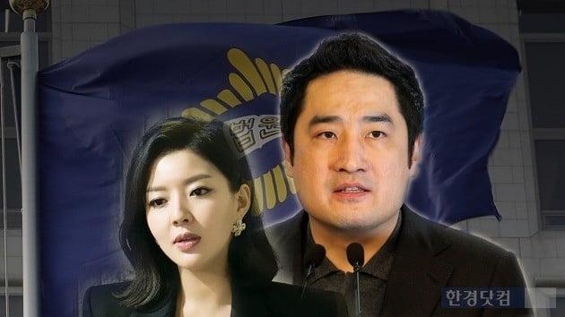 법정구속된 강용석과 '도도맘' 김미나/사진=한경DB