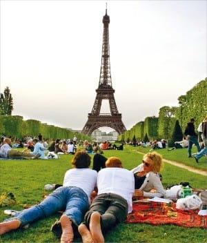 에펠탑을 가까이서 볼 수 있는 샹 드 마르스 공원