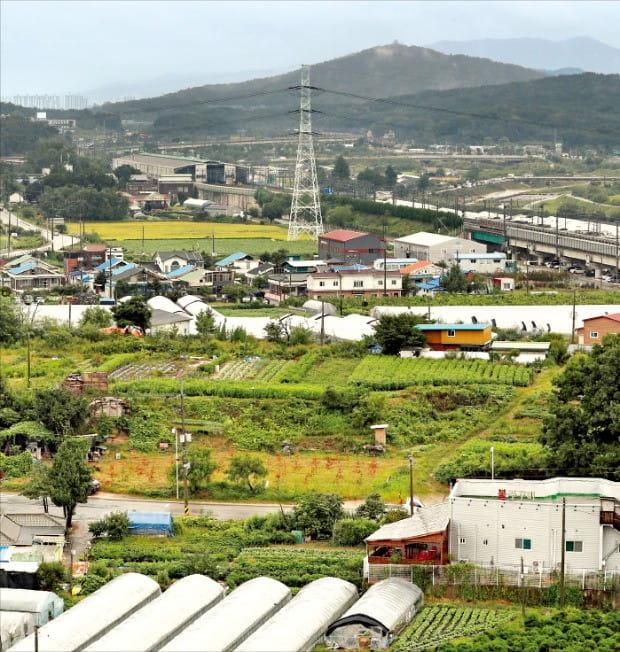 공공택지로 지정된 경기 의정부시 우정마을 일대.