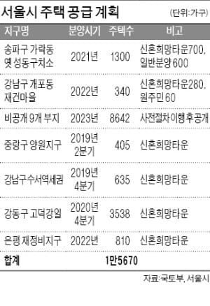 송파구 옛 성동구치소 부지·강남구 개포동 재건마을…서울 11곳 중소규모 공공택지 아파트 입성 노려볼까