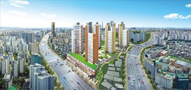 서울 도심 신당동에 처음으로 공급되는 공공지원 민간임대 '신당 파인힐 하나·유보라' 조감도. /반도건설 제공