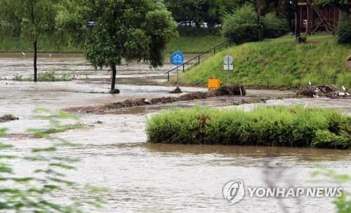 낙동강 안강·김천지점 홍수주의보 발령