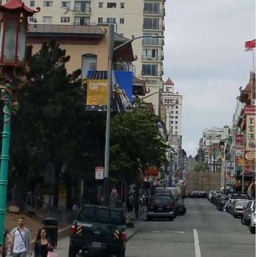 美 샌프란시스코 곳곳에 위안부 기림비 홍보배너…재팬타운에도