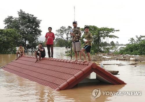 31명 실종 라오스 댐사고 수색 중단…40명 사망확인