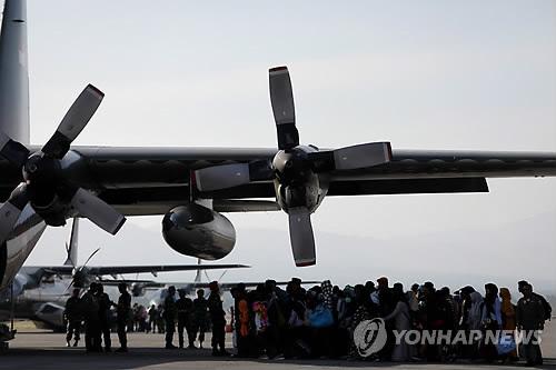 구호물자 실은 한국 공군기, 내일 인니 재난현장 도착