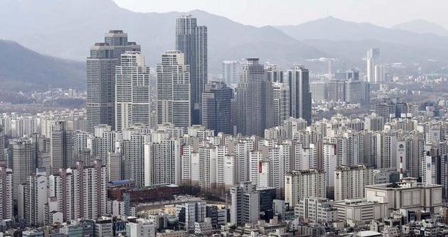 서울 도곡동 아파트 밀집지역. 가운데 솟은 건물이 '타워팰리스' 1·2·3차다. 한경DB