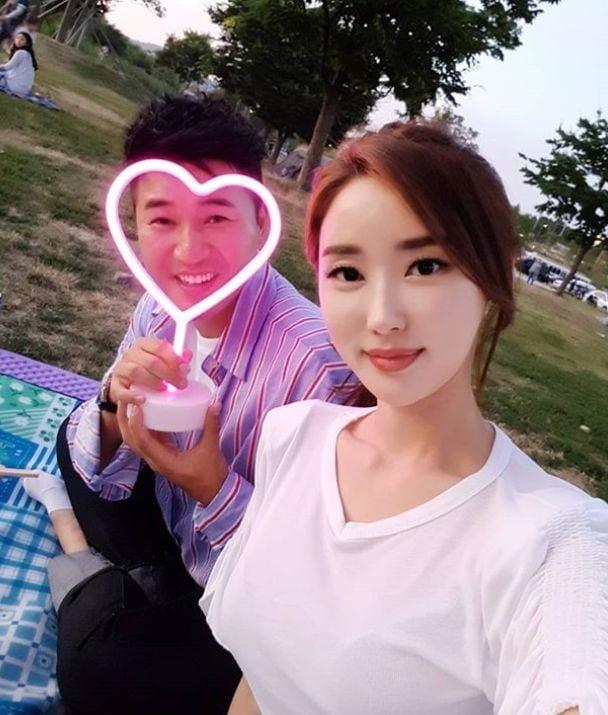 황미나, 김종민 공개연애/사진=황미나 인스타그램