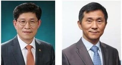 김연명 신임 사회수석(左), 노형욱 신임 국무조정실장(右)
