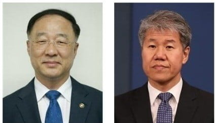 홍남기 신임 경제부총리 겸 기획재정부 장관(左), 김수현 신임 대통령 정책실장(右)