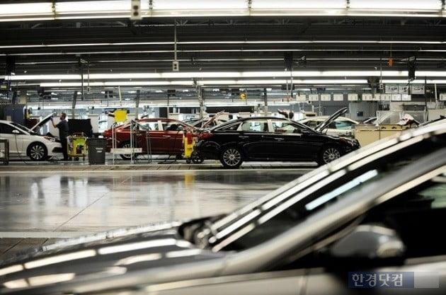 현대자동차의 미국 앨라배마 공장 조립라인.