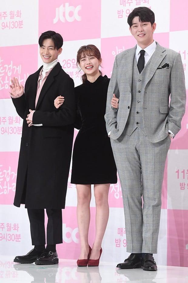 '일단 뜨겁게 청소하라' 배우 송재림 김유정 윤균상 /사진=변성현 기자
