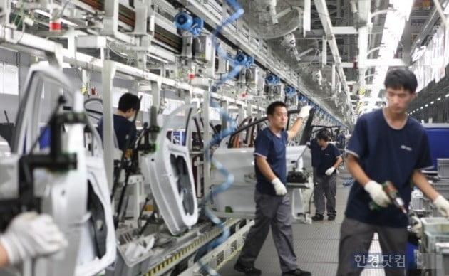 현대자동차 중국 베이징공장 생산 라인 / 사진=현대자동차그룹