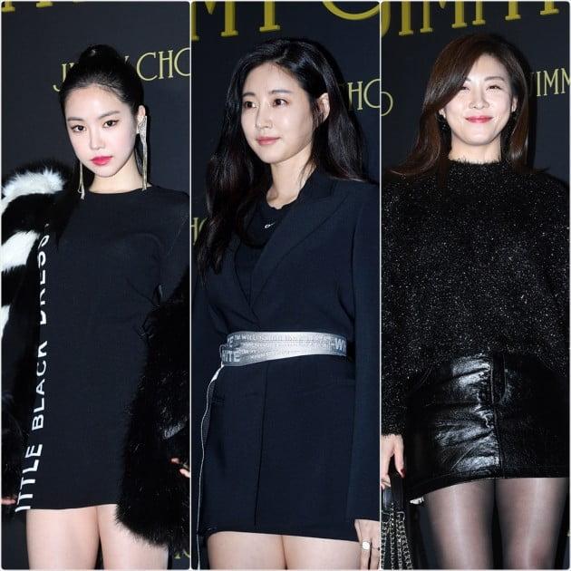 [HK영상] 손나은-김사랑-하지원, '손나 사랑스럽 지원'(세로직캠)