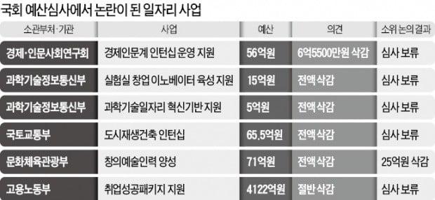 """""""가짜 일자리에 혈세 못 쓴다""""…국회 예산심사서 줄줄이 삭감 예고"""