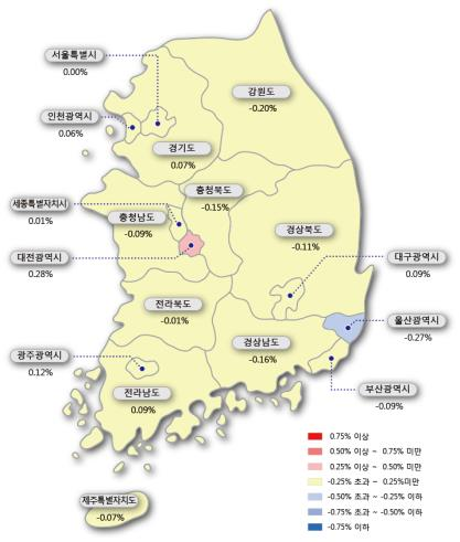 서울 아파트값 상승 멈췄다…1년2개월 만에 보합 전환