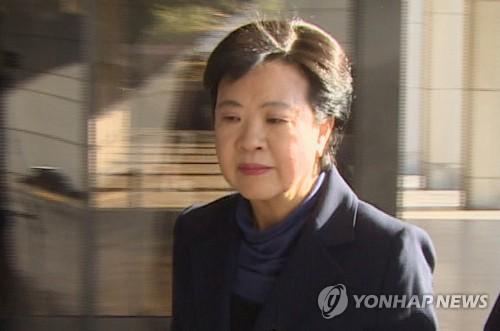 삼성 불법파견 은폐의혹 정현옥 前차관 구속심사 출석…묵묵부답